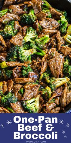 One-Pan Beef & Broccoli is a healthier rendition of your favorite Chinese takeout dish. Fill up your bowl, curl up on the couch and spend a fraction of what you would at a restaurant… Pork Recipes For Dinner, Italian Dinner Recipes, Instant Pot Dinner Recipes, Delicious Dinner Recipes, Lunch Recipes, Meat Recipes, Recipies, Chinese Recipes, Chinese Food