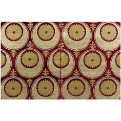 Ottoman silk, velvet & metal thread panel, late 16th/early 17th century