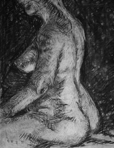 "Clara Lieu, Student Artwork, RISD Foundation Studies, Freshman Drawing, Torso Drawings from life, charcoal on paper,  24"" x 18"""