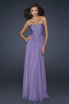 Long Purple Beaded Strapless Pleated Dress for Prom [pleated purple long dress] - $158.00 : Cheap Prom Dresses, Bracelets, High Heels Online--DressinTrends