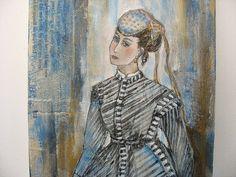 Woman paintingCivil War art victorian dress melancholy by luckduck