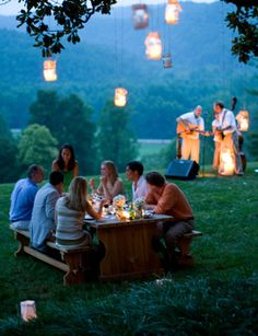 Have your outdoor wedding complete with live music for ambiance.