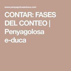 CONTAR: FASES DEL CONTEO | Penyagolosa e-duca