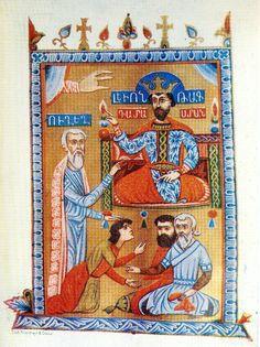 King Levon V , 1331 Cilicia Painter: Sarkis Pitzak