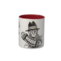 A Concert Party with Dog Crow Old Man Accordion Coffee Mugs #art #music #iconographique #accordion