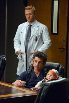 Grey's Anatomy Season 10, Episode 12: Derek Shepherd, Baby Jared Bailey Shepherd, and Owen Hunt