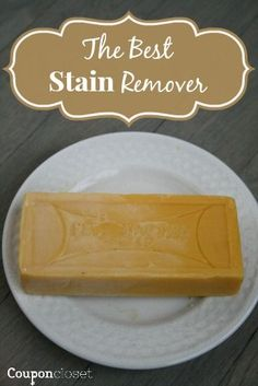 COLORSAFE Stain Removal - Fels Naptha bar soap - that's it!