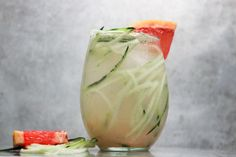 Grapefruit & Cucumber Gin Delight: Fix yourself a glass of green with Beautiful Booze's gin-based delight, made with grapefruit juice, shredded cucumber, agave, lime juice and club soda.