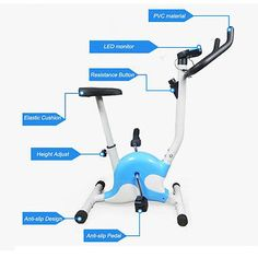 #Exercise bike #aerobic training cycle fitness cardio #workout home cycling machi,  View more on the LINK: 	http://www.zeppy.io/product/gb/2/231904690597/