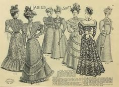 Late Victorian Era Clothing: Late Victorian Era Ladies' Dresses - Spring/Summer 1898 H. O'Neill & Co. Catalog
