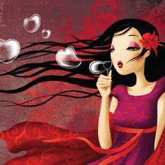 Miss Tigri - red and purple dress