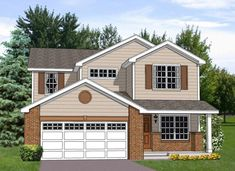 Narrow Lot Plan: 2,330 Square Feet, 4 Bedrooms, 3 Bathrooms - 009-00114