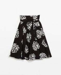 Pin for Later: Der eine Rock, der wirklich ALLEN steht Zara Printed Full Skirt Zara Printed Midi Flare Skirt ($60)