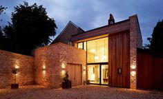 "Residential Architecture: The Fosse by Designscape Architects: '"".Flanked… Residential Architecture: The Fosse by Designscape Architects: '"".Flanked by Bath stone walls, House Doors, House Entrance, Country Modern Home, Modern Family, Modern Rustic, French Country, Modern Farmhouse, Architecture Résidentielle, Beautiful Architecture"