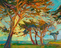 Monterey landscape oil painting by Erin Hanson
