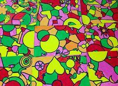Fifth Grade Collaborative Shape Mural