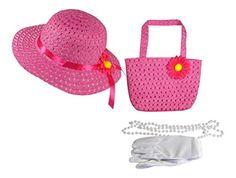 Childrens//Kids Little Girls High School Musical Hat and Gloves Set Pink