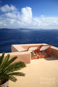 Terrace for 2 in Oia, Santorini ✿⊱╮