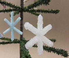 christmas craft ideas: crystal snowflake tutorial
