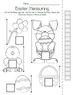 This FREE, printable Easter measuring activity provides your kiddos with a little non-standard measuring practice! It's perfect for preschool, kindergarten, and elementary grades. http://www.mpmschoolsupplies.com/ideas/4755/printable-easter-measuring-activity/