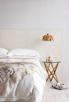 Ooooh. Have been looking at DIY headboards and a pegboard option would be relatively low lift, high utility, AND nice looking to boot.