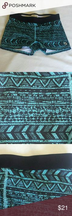 Tribal Low Rise Performance Active shorts Cute tribal design Soffe Shorts