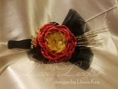 Glittering Holiday Headpiece by LaceyLengths on Etsy