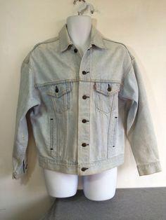 ab74e9c9214 LEVIS Denim Jacket 80s Vintage Light Wash Jean Type 3 USA 4 Pocket Trucker  M  LEVISTRAUSSECO  JeanJacket
