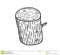 Photo about A hand drawn vector doodle illustration of a wood log. Illustration of lumberjack, pencil, graphic - 62236609