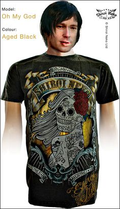 c526f6ab64addf The OH MY GOD T-shirt Shiroi Neko. Stonewashed tattoo T-shirt with gold  foil details for extra bling.
