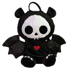 Skelanimals Diego (Bat) 12-Inch Deluxe Backpack Plush