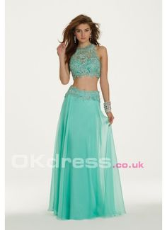 High Neck Lace Dress Beautiful Prom Dresses
