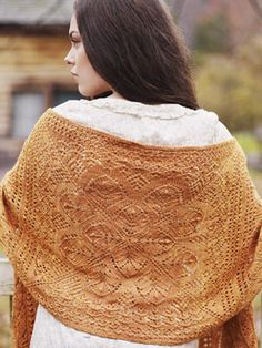 Gorgeous stole made of fingering yarn and beads.  Free pattern excerpted from The Knitter's Book of Wool.