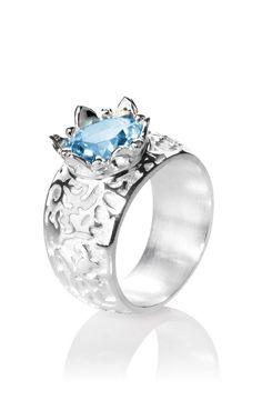 1001 Nacht Ring aus Silber mit Blautopas .Weite 56.