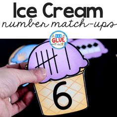 Your students will absolutely love this Ice Cream Number Match Up! Sharpen early math skills in a fun and hands-on way for your PreK, Kindergarten, or First Grade students.