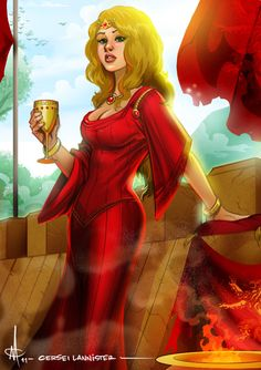 Cersei Lannister by mattolsonart on DeviantArt Game Of Thrones Orchestra, Game Of Thrones Art, A Dream Of Spring, A Storm Of Swords, The Winds Of Winter, David Benioff, A Dance With Dragons, George Rr Martin, Cersei Lannister
