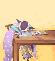 Frieza- yup, since he has the Planet Trade Organisation, he would probably drink himself to exhaustion. But then again it never really stated that he was literate. Dragon Ball Z, Dragon Ball Image, Dbz, Vegeta And Bulma, Manga, Anime, Tmnt, Pokemon, Kitty