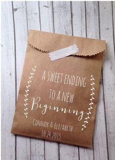 Wedding Cookie Bags Laurel Rustic Candy Buffet by DetailsonDemand... wedding favors??? #WeddingFavors