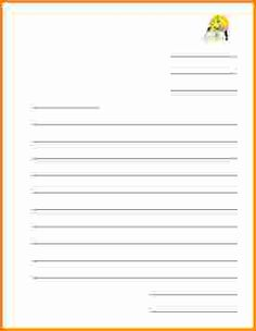 Letter Template For Kids  Education    Letter