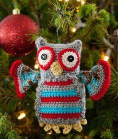 Christmas Owl Ornaments FREE Crochet Pattern