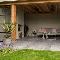 Outdoor Rooms, Outdoor Living, Outdoor Decor, Pergola Patio, Backyard, Gazebo, Diy Outdoor Fireplace, Porch Veranda, Mediterranean House Plans