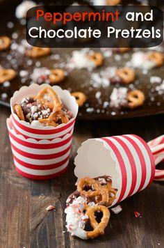 Peppermint & Chocolate Pretzels
