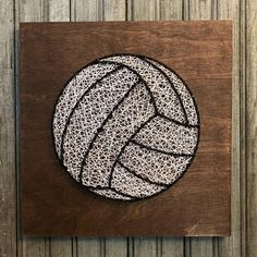 String Art Volleyball 1ft by 1ft wood board If you make an order, message me what colors you would like for the strings or I will use the default colors