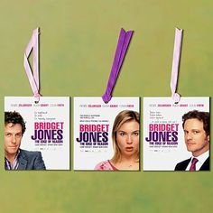 Bridget Jones - advertising bookmarks