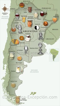 Maps of Argentina ▷ Map of mates in Argentina: see our maps and discover our usefull information about Argentina.