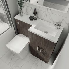 Elation L Shape Compact Combination Vanity Unit - 5 Colours Superb L shaped vanity set in a choice of stylish colours Please note the compact Small Bathroom Layout, Small Bathroom Vanities, Large Bathrooms, Simple Bathroom, Bathroom Colors, Amazing Bathrooms, Bathroom Inspo, Master Bathroom, Bathroom Ideas