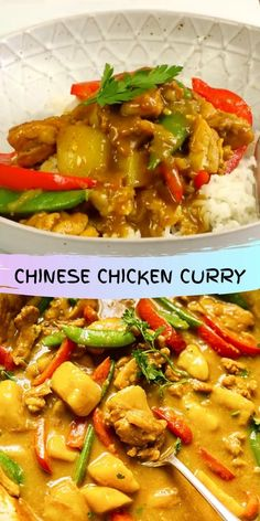 This Chinese chicken curry recipe is so quick to make, you won't be dialing your takeout restaurant any time soon! It's also loads healthier and more filling!