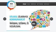 KKreatív Kommunikáció weboldal   Kreatív Webdesign Tanfolyam