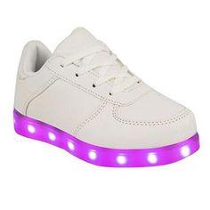 SAGUARO® Jungen Mädchen Turnschuhe USB Lade Flashing Schuhe Kinder LED…