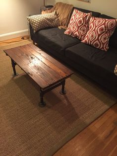 coffee table wood table rustic wood reclaimed wood | rustic wood